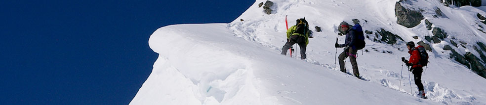 Mountaineering ski guide - Mont Blanc header